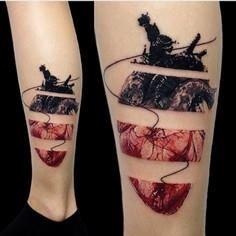Anatomical Broken Heart Tattoo - 120 Trash Polka Tattoos