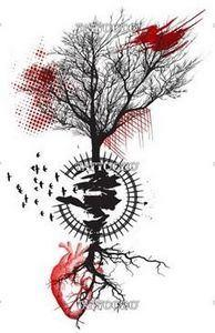 Winning design for Dead tree - 120 Trash Polka Tattoos