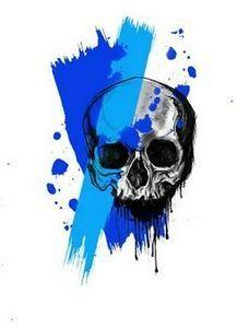 Trash polka skull tattoo design - 120 Trash Polka Tattoos