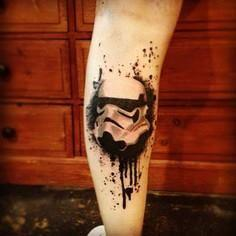Star Wars Trooper Helmet Trash  - 120 Trash Polka Tattoos