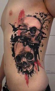 Abstract skulls - 120 Trash Polka Tattoos