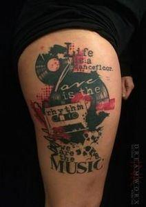 Artist: Lu  Dreamworx Ink  - 120 Trash Polka Tattoos