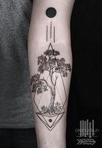 This but with a tree of life insid - 175 Popular Tree Tattoo