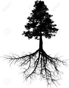 tree outline with roots - Google S - 175 Popular Tree Tattoo