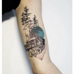 'Something from Nothing' by Mowgli - 175 Popular Tree Tattoo