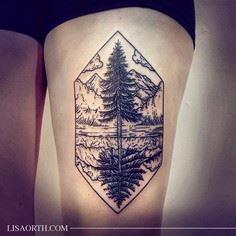 Scene with trees from the Northwes - 175 Popular Tree Tattoo
