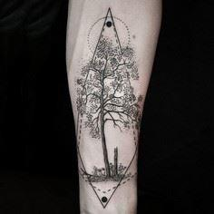 Artist Combines Naturalism with Ge - 175 Popular Tree Tattoo